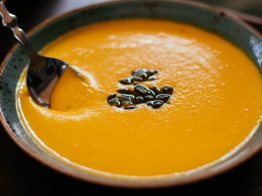 Roasted Butternut Squash, Sweet Potato and Carrot Soup