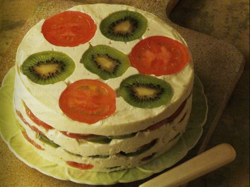 The Tomato and Kiwifruit Layer Cheesecake - A 1980s Food Crime?